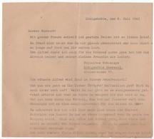 WW2 - Courrier Privé En Allemand De Königshütte (Chorzów En Pologne). Den 6. Juli 1943 (du 6 Juillet 1943). 4 Pages - Historical Documents