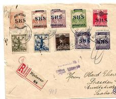 Kra008a / KROATIEN - Brief Mt Mischfrankatur Und Marken Des Jahres 1918 Sowie Zensur Und Devisenkontrolle. - Kroatien
