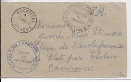 1942 - CAMEROUN FRANCE LIBRE - ENVELOPPE FM CENSUREE Du CAMP De BATSCHENGA (DETENUS PARTISANS De PETAIN) RARE ET SUP ! - Marcofilia (sobres)