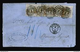 "PORTUGAL. 1873. (4 Febr) Corunha/Spain To Buenos Ayres/Argentina. E.L. Forwarded To Lisbon By ""Ricardo Carvalho Cª"" (blu - Portugal"