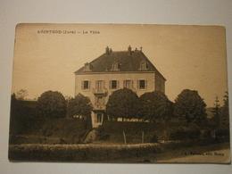 39 Arinthod, La Villa. Cachet Convoyeur / Itinérant Arinthod à Lons Le Saunier 1925 (242) - France