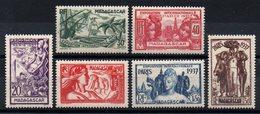 MADAGASCAR - YT N° 193 à 198 - Neufs * - MH - Cote: 11,50 € - Madagascar (1889-1960)