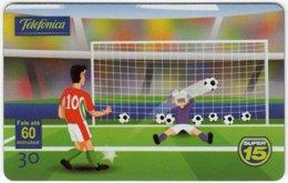 BRASIL A-785 Magnetic Telefonica - Cartoon, Sport, Soccer - Used - Brasilien