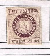 Revenue Fiscaux Municipio  San Lorenzo Nuovo - Mars 1881. Cfr Cataloque J.B. Moens (1892). Old Collection. RRR - Fiscali