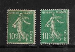 France  Type Semeuse De 1921/22 N°159IA Et 159IB Neufs * Charnière - Frankreich