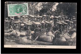 DAHOMEY Ouidah, Porteuses De Sable 1910 Old Postcard - Benin