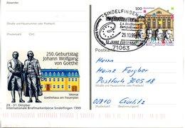 """BRD Amtl.GZS-Sonderpostk. PSo 62 """"Int. BM-Börse Sindelfingen"""" WSt.""""1100 Jahre Weimar"""" SSt.29.10.1999 SINDELFINGEN 1 - [7] Federal Republic"""