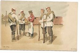Russie Militaria Croix Rouge Le Vaguemestre Illustrateur Grand Duchesse Olga Alexsandruvna ..G - Russia