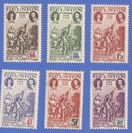REUNION 180 à 185 NEUFS ** TRICENTENAIRE DU RATTACHEMENT A LA FRANCE - Unused Stamps