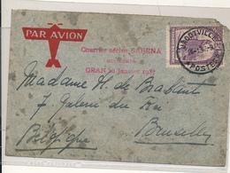 "BELGIAN CONGO AIR CRASH ORAN 28.01.1937 ""Le Savoia – Marchetti S.73 De La SABENA"" JADOVILLE 21.01.37 TO BRUSSELS - Congo Belge"