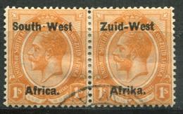 Südwestafrika Mi# 13/14  George V Paar Gestempelt - Africa Del Sud-Ovest (1923-1990)