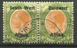 Südwestafrika Mi# 39/40  George V Paar Gestempelt - South West Africa (1923-1990)