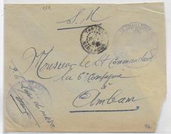 1943 - CAMEROUN FRANCE LIBRE - ENVELOPPE FM Du 1° REGIMENT De TIRAILLEURS De YAOUNDE => AMBAM - Cameroun (1915-1959)