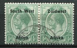 Südwestafrika Mi# 31/32 Typ IIIa Dünner Aufdruck George V Paar Gestempelt - South West Africa (1923-1990)