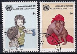 UNO WIEN 1985 Mi-Nr. 53/54 O Used - Aus Abo - Centre International De Vienne