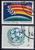 UNO WIEN 1986 Mi-Nr. 62/63 O Used - Aus Abo - Centre International De Vienne