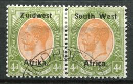 Südwestafrika Mi# 39/40 Typ IIIa Dünner Aufdruck George V Paar Gestempelt - Africa Del Sud-Ovest (1923-1990)