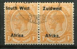Südwestafrika Mi# 43/44 Typ IIIa Dünner Aufdruck George V Paar Gestempelt - South West Africa (1923-1990)