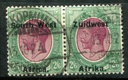 Südwestafrika Mi# 55/6 George V Paar Gestempelt - South West Africa (1923-1990)