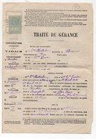 Quimperlé (29 Finistère)  Traité De Gérance D'un Débit De Tabac 1910  Avec Timbre Fiscal 1f Et 2/10 (PPP11630C) - Fiscaux