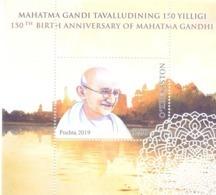 2019. Uzbekistan, Mahatma Gandhi, S/s, Mint/** - Uzbekistan