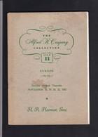 THE ALFRED CASPARY COLLECTION Sale II   Vente Publique HARMER  ( Catalogue à Réagraffer ) - Auktionskataloge