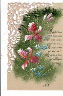 CPA-Lot De 2 Cartes Postales En Celluloïde  Et Ciselées  Décorées De Fleurs VM11557 - Other