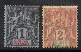 SOUDAN - YT N° 3 - 4 - Neuf * - MH - Cote: 4,75 € - Sudan (1894-1902)
