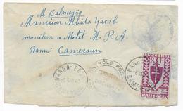 1943 - CAMEROUN FRANCE LIBRE - SERIE De LONDRES - ENVELOPPE De NANGA-EBOKO Avec CENSURE (RARE) - Cameroun (1915-1959)
