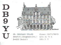 QSL - GERMANY - DB9YU - BERNHARD UNLAND - BOCHOLT - 1979 - Radio-amateur