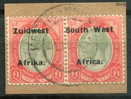 Südwestafrika Mi# 79/80a George V Paar Gestempelt Nach Links Verschobener Aufdruck - South West Africa (1923-1990)