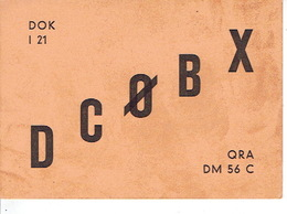 QSL - GERMANY - DC0BX - BERTHOLD SCHEPERS - BENTHEIM - 1972 - Radio-amateur