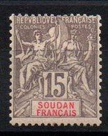 SOUDAN - YT N° 17 - Neuf * - MH - Cote: 10,00 € - Soudan (1894-1902)