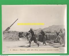 Palermo Antiaerea Militari Milizia Artiglieria Contraerea Antiaircraft Flak Antiaérien Antiaéreo - Guerra, Militari