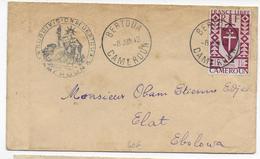 1942 - CAMEROUN FRANCE LIBRE - SERIE De LONDRES - ENVELOPPE De BERTOUA Avec CENSURE SUP ET RARE => ELAT - Cameroun (1915-1959)