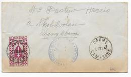 1943 - CAMEROUN FRANCE LIBRE - SERIE De LONDRES - ENVELOPPE De DOUME Avec CENSURE  RARE => ABONG M'BANG - Cameroun (1915-1959)