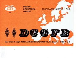 QSL - GERMANY - DC0FB - ERICH VOGL - LAHR - 1972 - Radio-amateur