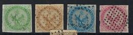 FRANCE  Colonies Générales 1859:   Les Y&T 2,3,4 Et 6 , Oblitérés,  B à TB - Aigle Impérial