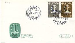 L-Luxembourg 1966. FDC  Luxemburg EUROPA (7.151) - Luxemburg