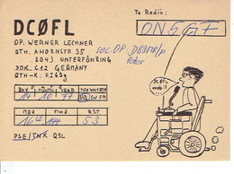 QSL - GERMANY - DC0FL - WERNER LECHNER - UNTERFÖHRING - 1977 - Radio-amateur