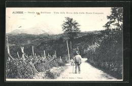 Cartolina Almese, Strada Per Rubbiana, Vista Della Rocca Delle Celle-Monte Composto - Autres Villes