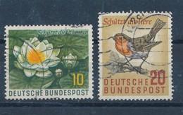 BRD Mi. 274 - 275 Gest. Naturschutz Seerosen Rotkehlchen - Umweltschutz Und Klima
