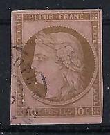 FRANCE  Colonies Générales 1871:   Le Y&T 18 , Oblitéré Guadeloupe,   B à TB - Napoléon III