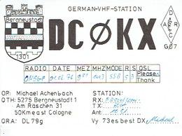 QSL - GERMANY - DC0KX - MICHAEL ACHENBACH - BERGNEUSTADT - 1976 - BLASON - Radio-amateur