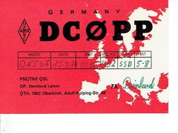 QSL - GERMANY - DC0PP - REINHARD LAMM - OBERKIRCH - 1974 - Radio-amateur