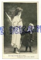 """Photographie. Ange Et Petite Fille .""""Bon Ange, Guidez Moi ..."""" 1907 - Anges"""
