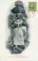 "St Thomas Danish West Indies Undivided Back  Coal Woman Smoking Pipe "" Lump Of Coal "" Women Slavery . Esclavage 1909 - Vierges (Iles), Amér."