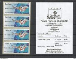 ESPAÑA SPAIN ATM 2017 FILATELIA TIRA DE 4 TARIFA A CON RECIBO - 1931-Hoy: 2ª República - ... Juan Carlos I