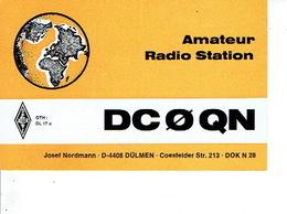 QSL - GERMANY - DC0QN - JOSEF NORDMANN - DÜLMAN - 1975 - Radio-amateur