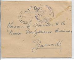 1943 - CAMEROUN - ENVELOPPE S.O De NANGA EBOKO Avec CENSURE => YAOUNDE - Cameroun (1915-1959)